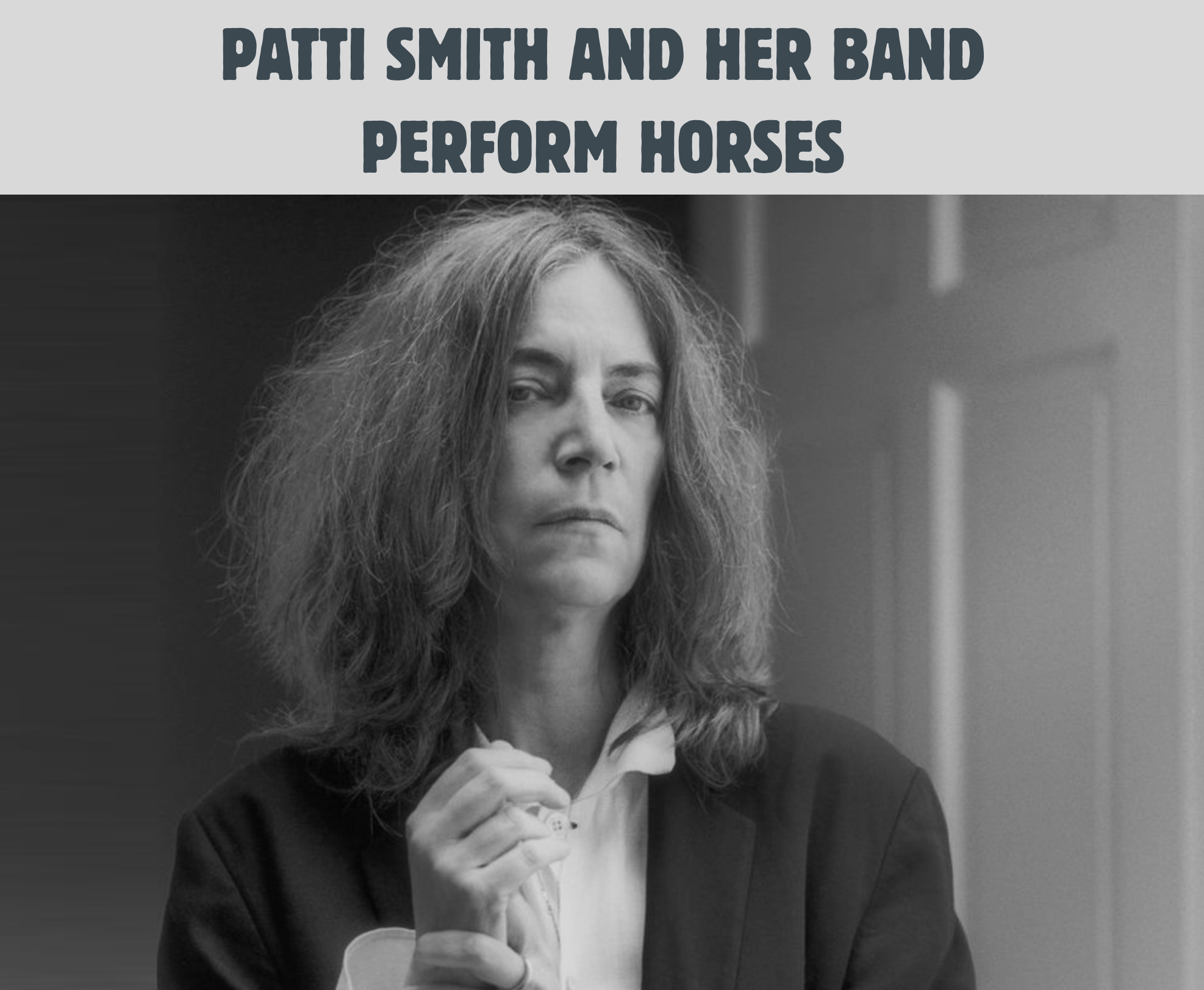 Patti Smith DTRH 2015